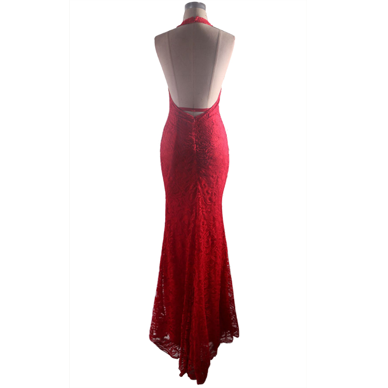 sexy red evening gown dress Mermaid prom dress lace Long Evening Dresses Slim fit party Dress in Evening Dresses from Weddings Events