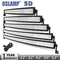 CREE 5D LED Light Bar 42 Inch 400W Offroad Led Work Driving Lights Beam Combo For