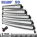 "Oslamp 5D 22"" 200W 32"" 300W 42"" 400W 50"" 480W  52"" 500W CREE Chip Curved LED Light Bar Offroad Led Work Light Combo Beam 12v 24v"