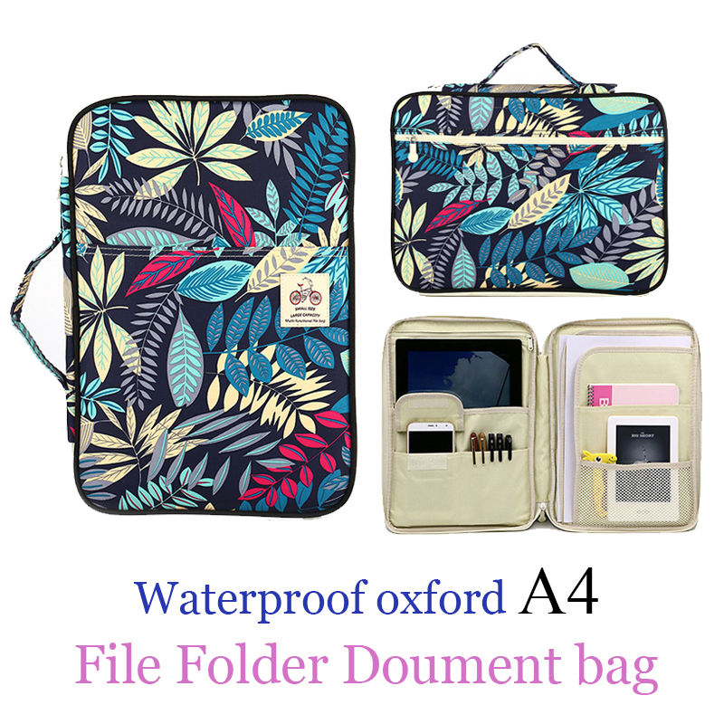 hot Waterproof Business Book A4 Paper File Folder Bag ocument Bag Multifunction Storage Bag For Notebooks Pens iPad Computers waterproof oxford a4 file folder document bag business briefcase storage bag for notebooks pens ipad bag student gift