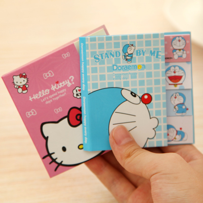 Kawaii Hello Kitty Totoro Doraemon Baymax Post it Memo Pad Cute Cartoon Self-adhesive Sticky Notes School Office Supplies 01963