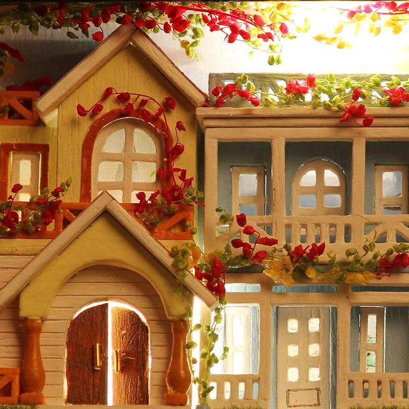 Miniatur Rumah Boneka DIY Kotak Kayu Dollhouse Theatre 3D Rumah - Boneka dan mainan lunak - Foto 5