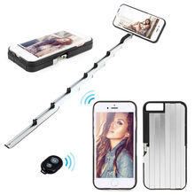 Stikbox Metal ALUMINUM Selfie Stick Bluetooth Remote Case For Apple iPhone 6/6s/Plus(China (Mainland))