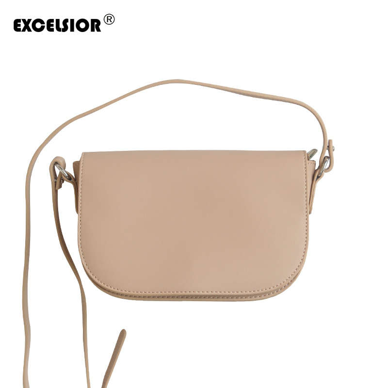 EXCELSIOR 2018 Solid PU Leather Crossbady BagWomen Flap Handbags Bags Ladies Shoulder Bags For Female with Double Strap G1774