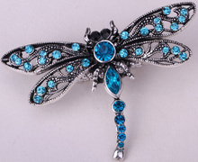 Dragonfly stretch ring for women summer jewelry antique silver & gold plated W crystal wholesale dropshipping