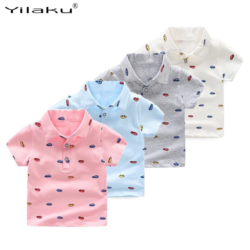 Koszulka chłopięca z polaru Yilaku Bawełniana koszulka z krótkim - Ubrania dziecięce - Zdjęcie 1