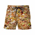Taco Bell is Life 3D Shorts Delicious Sandwich Prints Short Pants Male Casual Beach Shorts Mens Hip Hop Board Shorts
