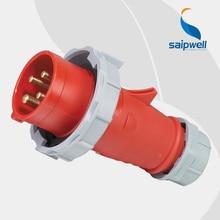 32A 400V 4P (3P+E) 32 amp cee industrial outdoor plug EN / IEC 60309-2 4-pin Power IP67 isointernational Splash Proof SP294 стоимость