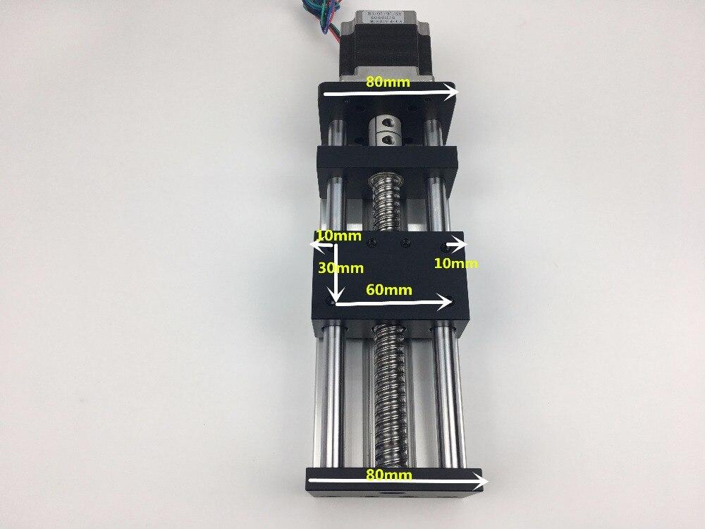CNC GGP 1204 1605 1610 effective travel 400mm BallScrew Slide Rail Linear Guide Moving Table+ Nema 23 motor 57 Stepper Motor