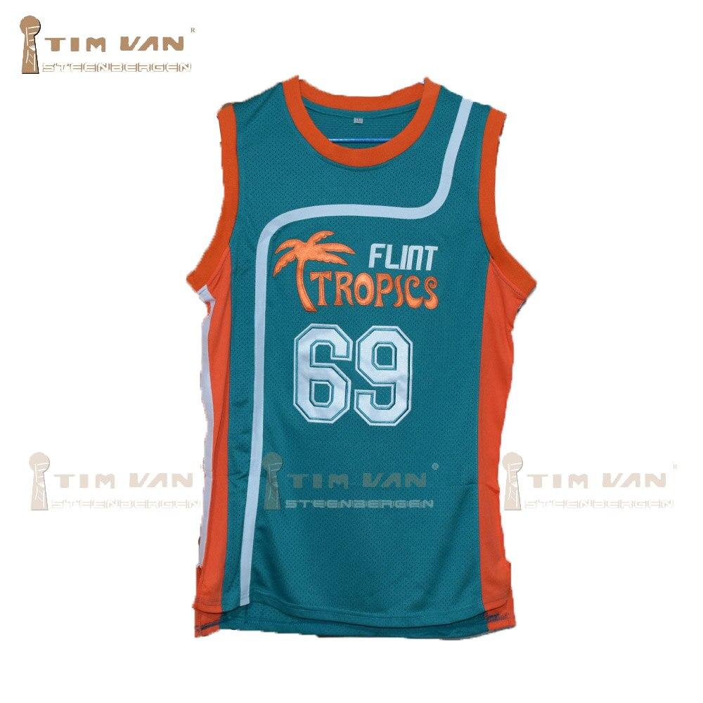 "Prix pour TIM VAN STEENBERGEB Center-Ville 69 ""Funky Stuff"" Malone Silex Tropiques Semi Pro Équipe de Basket-Ball Jersey-Vert"
