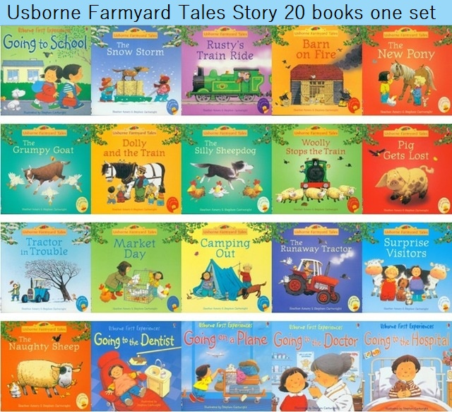 Random Choose 5pcs/set 15x15cm Usborne Best Picture Books Children Baby Famous Story English Farmyard Tales Series Farm Story