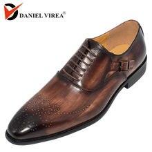db52e5ada الرجال اللباس أحذية جلدية مشبك حزام مكتب الأعمال الزفاف اليدوية مختلط اللون  البروغ حذاء أيرلندي الرسمي