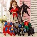Мстители Мультфильм Куклы Тор человек-Паук Халк Бэтмен Супермен Короткая Плюшевая Игрушка 16in Детский День Рождения Рождественский Подарок Новый в Мешок