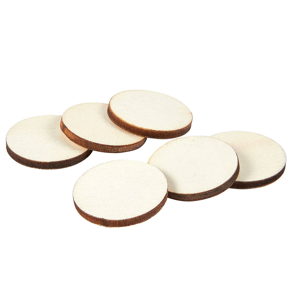 50pcs Natural Blank Wood Pieces Slice Round Unfinished Wooden Discs for Crafts Centerpieces Wooden DIY Christmas Ornaments50pcs Natural Blank Wood Pieces Slice Round Unfinished Wooden Discs for Crafts Centerpieces Wooden DIY Christmas Ornaments