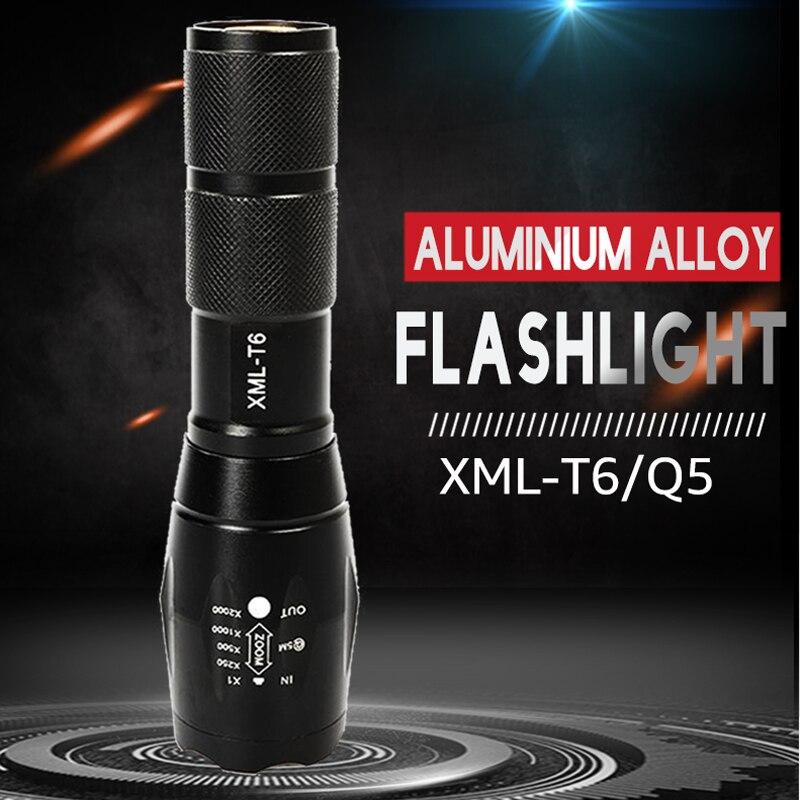 LED Flashlight XML-T6 Tactical Flashlight Q5 Mini Torch Waterproof  Pocket Flashlight Outdoor Lighting UV Flashlight Scorpion