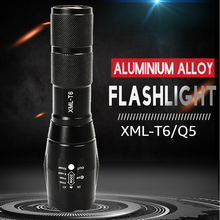 LED Flashlight XML-T6 Tactical Flashlight Q5 Mini Torch Wate