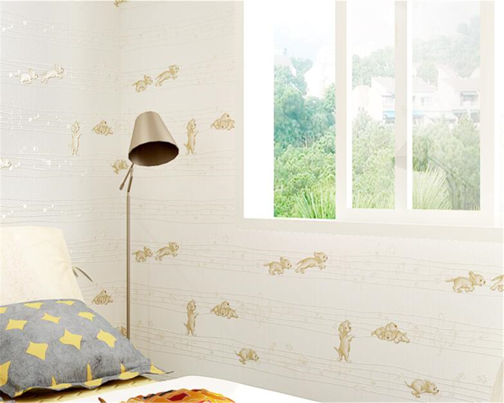 Beibehang behang voor woonkamer Kinderkamer 3D Behang Leuke Dier ...