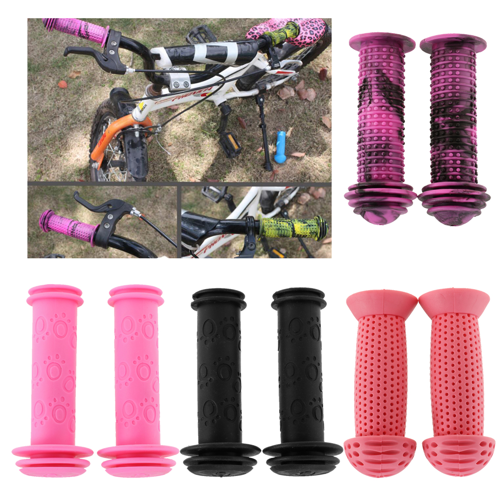 1Pair Bike Grips Children Bike Tricycle Scooter Anti Slip Rubber Bicycle Grip G