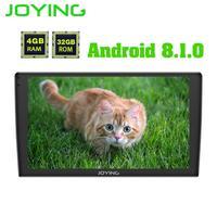 JOYING 9 ''1 din автомобильный радиоприемник 4g Ram Android 8,1 Восьмиядерный Универсальный головное устройство gps система с поддержкой DSP Carplay Wifi Androidauto