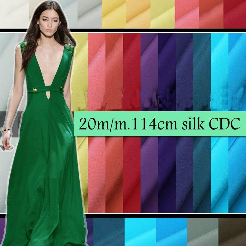 "20 m/m 114 ס""מ Muticolor טבע משי קרפ דה Chine בד באיכות גבוהה משי שמלת H1CDC2"