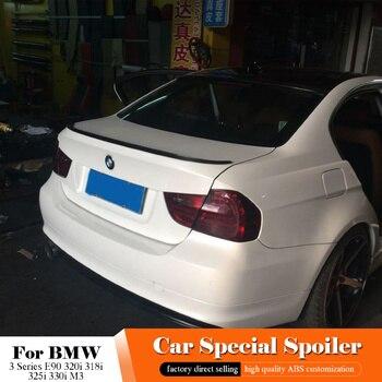 AITWATT Cho BMW 3 Series E90 320i 318i 325i 330i M3 Đuôi Màu Đen Spoiler 2005-2012 Xe Phía Sau Thân Cây khởi động Cánh Môi Trắng Spoiler