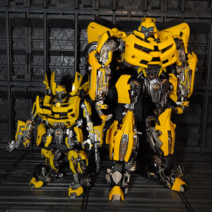 Image 2 - WJ Transformation MPM 03 MPM03 MPM 03 film dabeille jaune surdimensionné 28CM Version alliage Collection figurine Robot jouets cadeaux