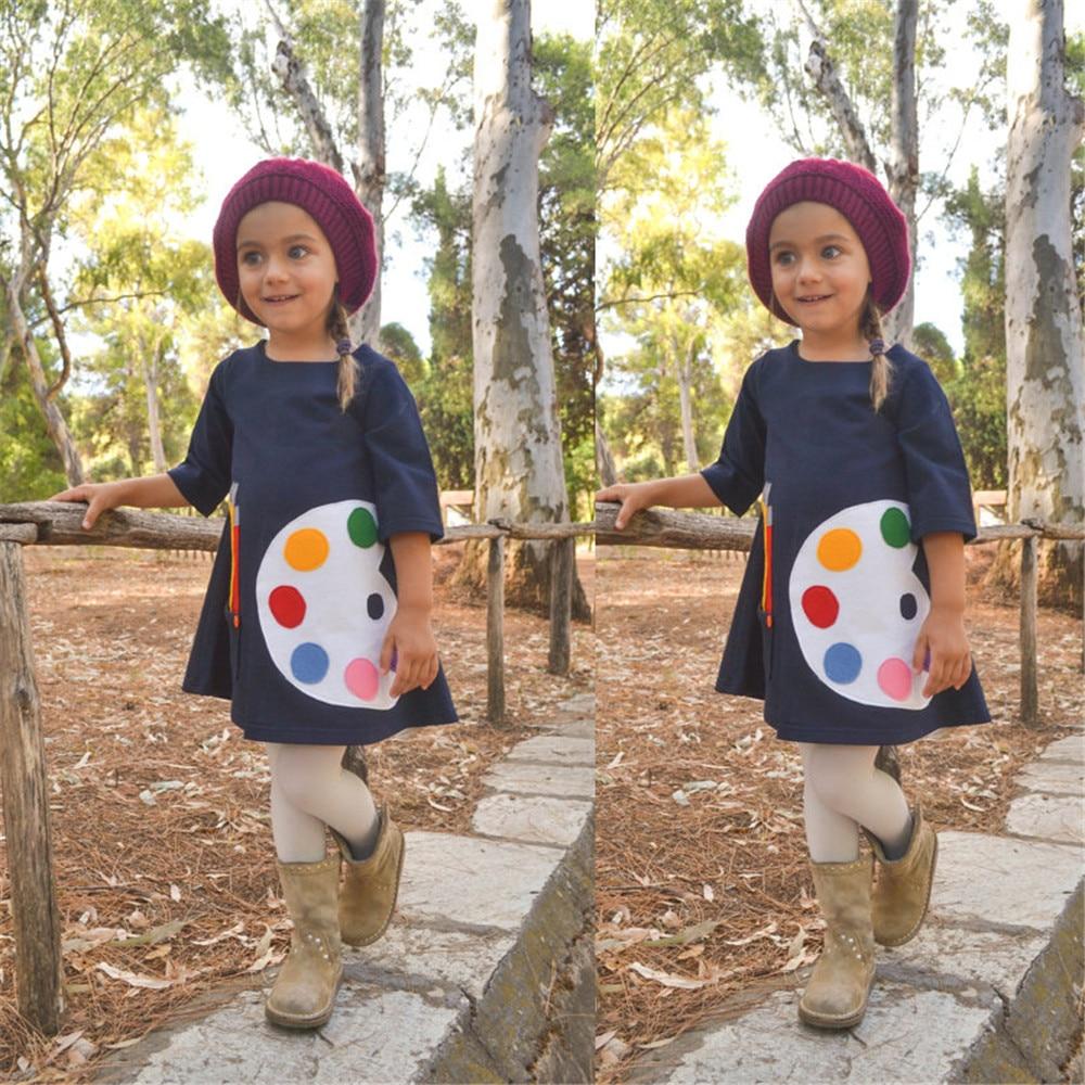 HTB1bRU5X0zvK1RkSnfoq6zMwVXaj 1-7 Years Kids Girl Dress Toddler Baby Long Sleeve Dresses Summer Children Clothing Girls Cotton Princess Dress Kid Tops Outfits
