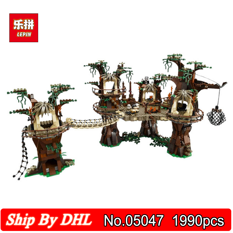 Lepin 05047 Star Ewok Village Wars Juguete Para Construir 1990pcs Block Bricks Children Education Toy Compatible Legoingly 10236 2016 new lepin 05047 1990pcs star wars ewok village model building kits figure blocks bricks compatible children toy 10236