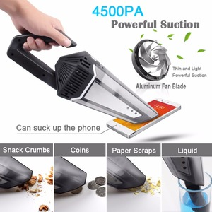 Image 5 - 4500Pa Vacuum Cleaner Super Suction Cordless Battery Rechargeable Vacuum Cleaner Dust Clean Wet&Dry Dual Use For Home And Car