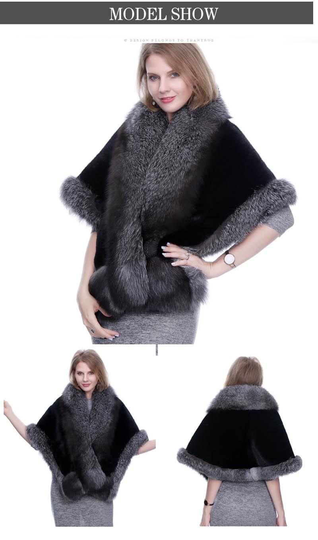 mink fur shawl fox fur trimmed (3)
