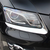 Chrome Front Headlight Lamp Eyelid Eyebrow Cover For Audi Q5 2009 2010 2011 2012