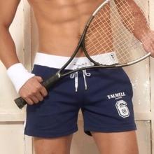 Мужские хлопковые шорты для бега, бега, тенниса, фитнеса