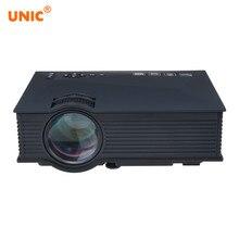 Unic UC46 UC46 + проектор Беспроводной WI-FI 1200 люмен 800×480 LED видео домашнего Кино Поддержка Miracast Dlna Airplay Портативный проектор