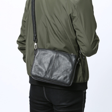 LANSPACE  leather men bag brand high quality cow leather business handbag top shoulder bag
