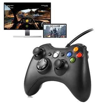 Game Gamepad For Microsoft Xbox 360 Controller Wired Game Pad Controller Joystick For PC Computer Win98/2000/XP/Win7/8/10