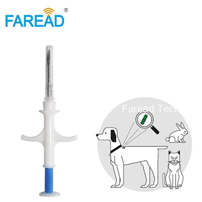Free Shipping 1.4x8mm/2*12mm Bioglass Tag FDX-B Dog Chip Animal Implant ISO RFID Microchip Injector Vet Syringe Pet Transponder