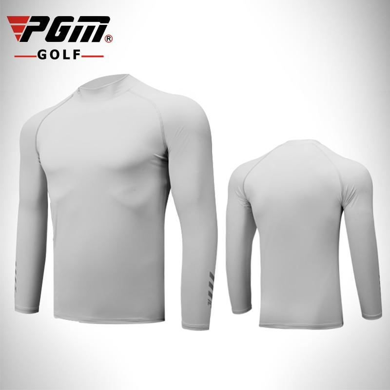 PGM Golf Trainning Shirt Men Lycra Breathable Quick Dry Sunproof Summer Sports Long Sleeve Shirts Golf sunscreen Clothi