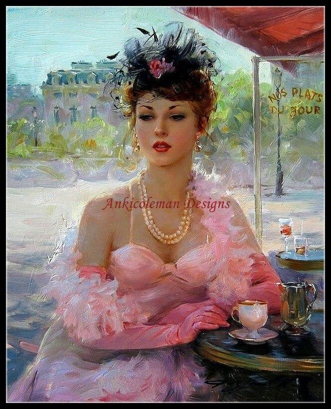 Рукоделие для вышивания Сделай Сам Французский DMC высокое качество-счетные наборы для вышивки крестом 14 ct картина маслом-Розовая леди