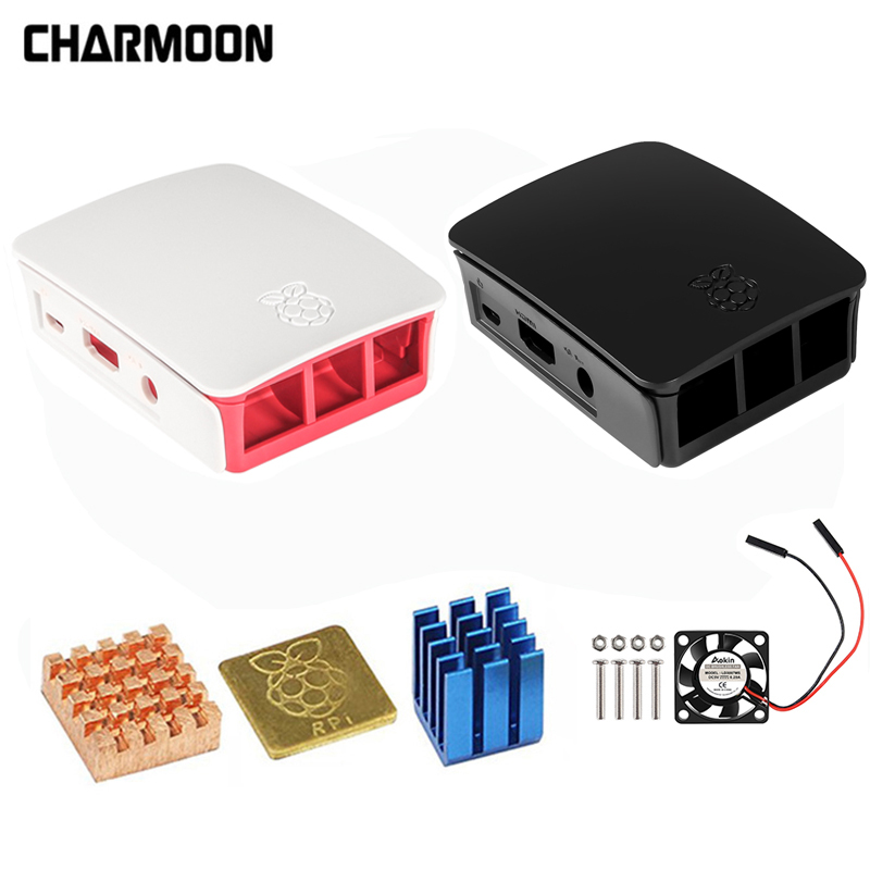 For Raspberry Pi 3 Case Official ABS Enclosure Raspberry Pi 2 Box Shell From The Raspberry Pi Foundation+Cooling Fan(China)