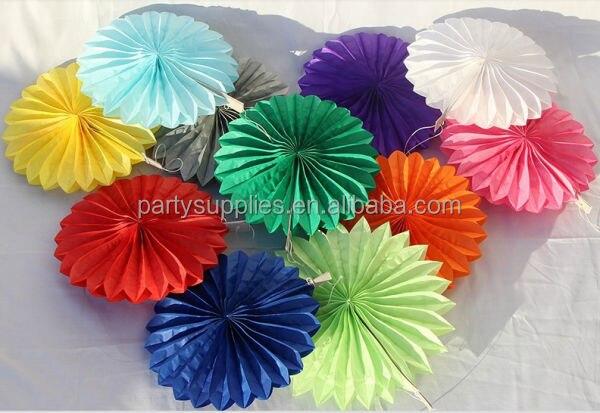 free shipping 50pcs 8inch 20cm tissue paper fans nursery decor custom pinwheels childrens birthday party decorations - Party Decorations Cheap
