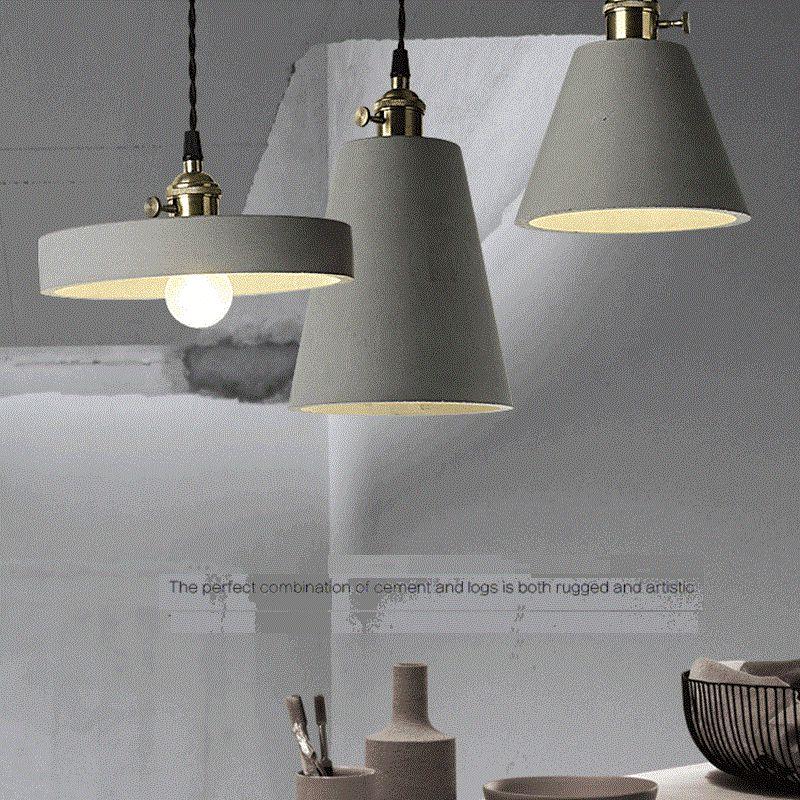 LukLoy セメントペンダントランプ家庭用テーブルロフト装飾天井ランプ北欧コンクリート工業用照明器具照明器具 -