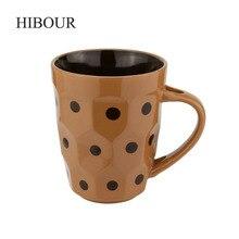 HIBOUR Klassische Punkt Milch Tassen Mode Kurze Kaffeetasse Einfarbig Hand Bemalt Keramik-tassen Hause Büro Teetasse 300 mL