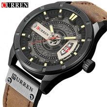 2018 Элитный бренд CURREN для мужчин Военная Униформа спортивные часы кварцевые Дата человек повседневное кожа наручные часы Relogio Masculino
