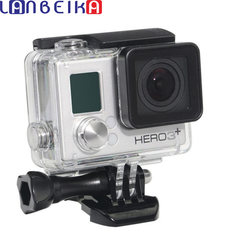 LANBEIKA For Gopro Hero 4 3+ Waterproof Housing Case Standard 40m Underwater Waterproof Protective Case For Gopro Hero4 Hero3+ pj 002 protective silicone case wrist band for gopro hero 3 3 wi fi remote controller red