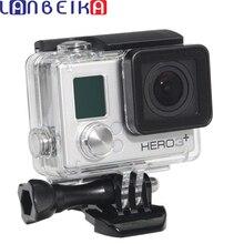LANBEIKA ل Gopro بطل 4 3 + مقاوم للماء الإسكان القياسية 40 متر تحت الماء مقاوم للماء واقية ل Gopro Hero4 Hero3 +