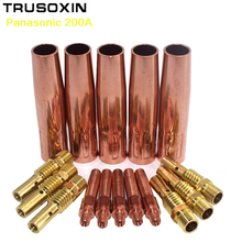 25pcs Panasonic 200A MIG MAG Gun Torch Accessories shield Cups electric tips link rod for CO2 welding machine