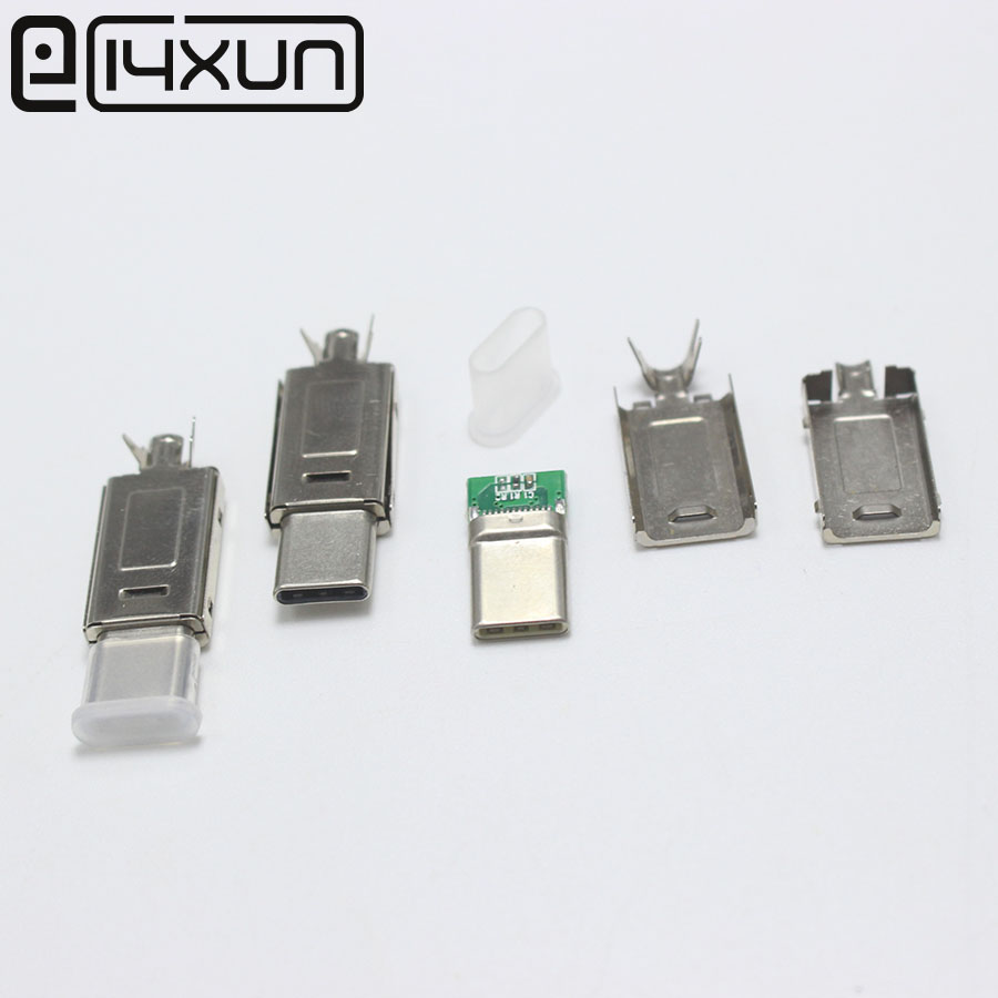 Original 2Set USB 3.1 Type-C To Type C Plug Welding Type Double-sided Plug For DIY Data Charging Connector For OD 3.0mm2 Cable