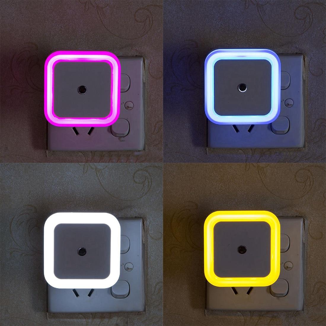 Multi Color 1pcs Light Sensor Control LED Night Light US Plug Novelty Bedroom Lamp For Baby Kids Gifts Luminaire Sleep Light