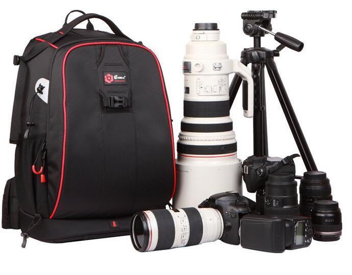 SLR camera bag camera bag red digital camera bales SLR photography backpack lowepro protactic 450 aw backpack rain professional slr for two cameras bag shoulder camera bag dslr 15 inch laptop