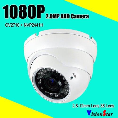 Security Dome Camera SONY AHD 1080P 2.0MP 2.8-12mm Varifocal Lens OSD Menu 36pcs IR Leds 2000TVL CCTV cctv ahd 1 0mp 720p 84 ir 2 8 12mm varifocal lens security icr camera osd